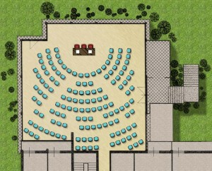 Pianta sala congressi